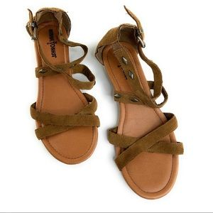 Minnetonka Suede Wedge Sandals